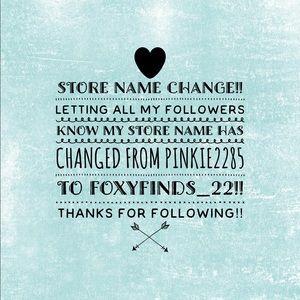 Store Name Change!! 😊